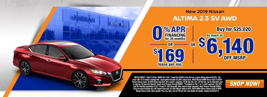 New & Used Nissan Dealer Indianapolis IN | Andy Mohr Nissan